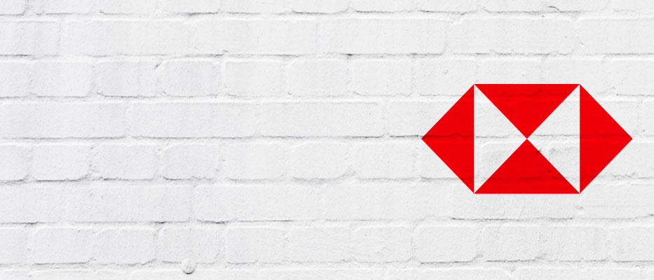 Brick wall background with hsbc logo; image used for HSBC New Zealand Fixed Home Loan Summer Offer page